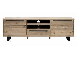 Norm TV-meubel in gefineerd massief amerikaans eiken met 2 deuren en 1 lade