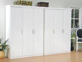 6 deurs kledingkast bestaande uit 2x3 drs kast Oslo wit