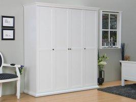 4-deurs kast Venetië wit kledingkast