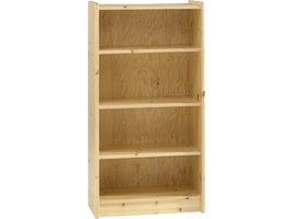 Hioshop Molly Kids boekenkast met 4 planken, helder gelakt.