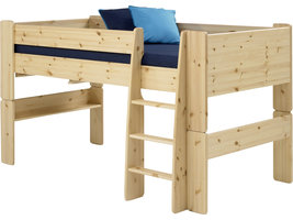 Molly Kids bed 90x200 cm, helder gelakt.