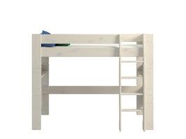 Hioshop Molly Kids bed 90x200 cm wit gewaxt.