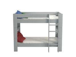 Hioshop Molly Kids bed 90x200 cm grijs gelakt.