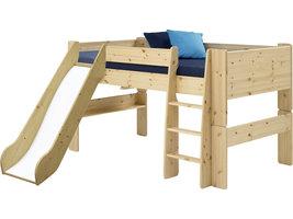 Molly Kids bed 90x200 cm helder gelakt.
