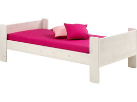 Hioshop Molly Kids bed 90x200 cm, wit gewaxt.