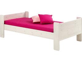 Molly Kids bed 90x200 cm, wit gewaxt.