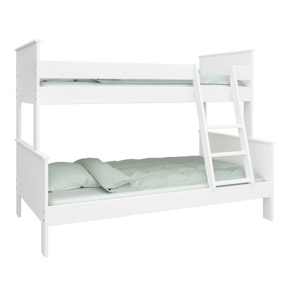 3 Persoons Stapelbed Hout.Oscar Kids Stapelbed 3 Persoons 90 120x200 Cm Incl Lattenbodem Wit