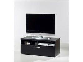 Nadja TV-meubel 1 lade en 2 ruimtes zwart.