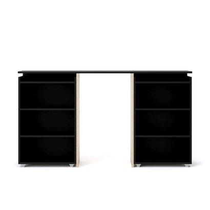 Tvilum Nada hoofdeinde 160 cm met 4 planken zwart mat.