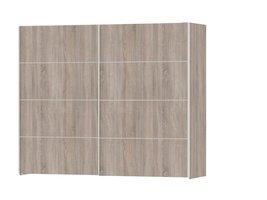 Veto kledingkast 2-deurs B 242 cm, truffelkleur.
