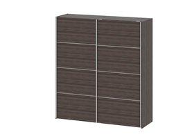 Veto kledingkast 2-deurs B 182 cm, antraciet eiken decor.