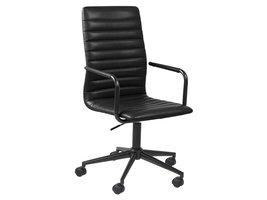 FYN Winslet kantoorstoel zwart PU kunstleer.