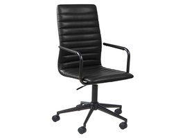 Winslet kantoorstoel zwart PU kunstleer.