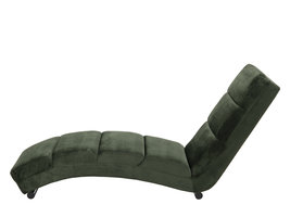 Actona Sanne chaise longue/ligstoel, bosgroen.