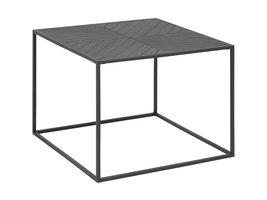 FYN Orcean salontafel 60x60 cm zwart gelakt, zwart staal.