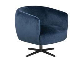 FYN Augustus fauteuil met draaivoet, in marine blauw.