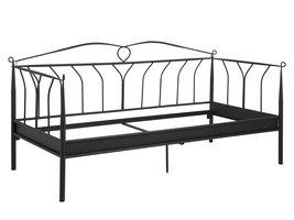 FYN Lissy bed 200x90 cm, zwart.