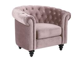 Charlie fauteuil dusty rose, zwart.