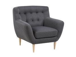 Osmund fauteuil donkergrijs, naturel.