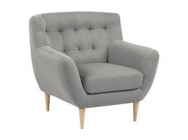 Osmund fauteuil grijs, naturel.