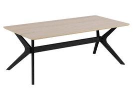 FYN Duffy salontafel 120x60 cm eiken fineer, zwart.