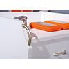 Hioshop Prosar kommode kantoorarchief op wielen, 4 lades wit.
