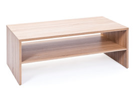 Hioshop Abcent salontafel 1 plank Sonoma eiken decor.