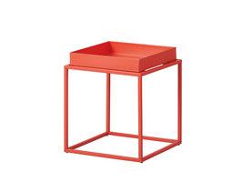 Cross salontafel S hoektafel oranje/rood.