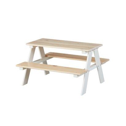 Hensa kinder bureau tafelbank voor kinderen wit, Milkyskin.