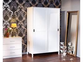 Hioshop Mafkri kledingkast 2 deuren wit.