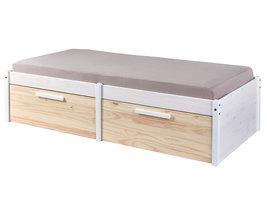Hioshop Elose bed 90x200 cm wit, Milkyskin.