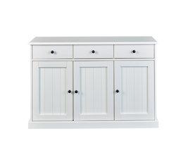 Wright dressoir 3 deuren, 3 lades wit.