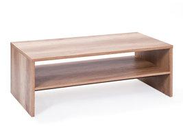 Hioshop Abcent salontafel 1 plank wild eiken decor.