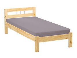 Hioshop Jans bed 90x200 cm natuur.