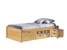 Hioshop Cluse bed 90x200 cm natuur.