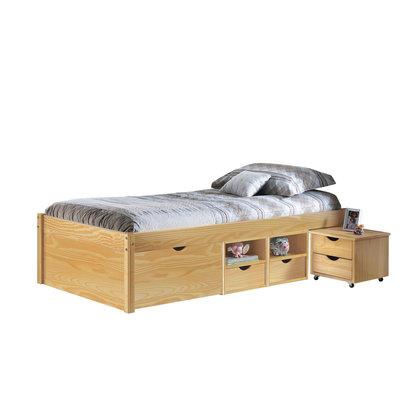 Cluse bed 90x200 cm natuur.