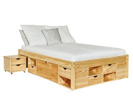 Cluse bed 160x200 cm natuur.