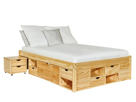Hioshop Cluse bed 160x200 cm natuur.
