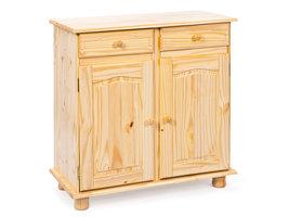 Hioshop Pamer dressoir 2 lades, 2 deuren natuur.