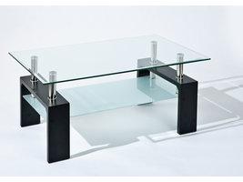 Danit salontafel 1 plank zwart.