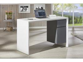 Megsir bureau 1 lade, 1 deur hoogglans, wit, grijs.