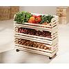 Vegam wandkast 3 bakjes voor fruit en groenten natuur.