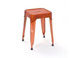 Relas eetkamerstoel voetenbank, koper, bruin.