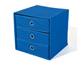 Hioshop Wissy kommode stoffen opbergkast vouwbaar, blauw.