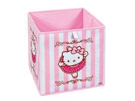 Hioshop HKB opbergdozen roze, wit.