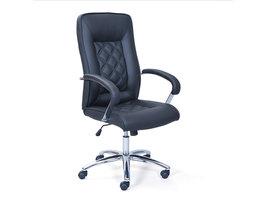 Growi kantoorstoel zwart PU kunstleder.