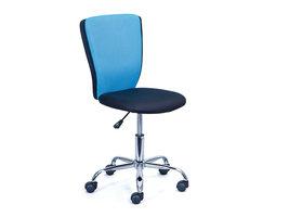 Hioshop Cece kantoorstoel blauw, zwart.