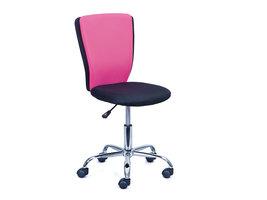 Hioshop Cece kantoorstoel roze, zwart.