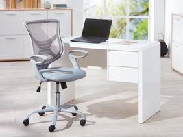 Hioshop Afira kantoorstoel grijs.