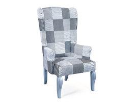 Hioshop Cantri fauteuil zwart, wit, grijs.